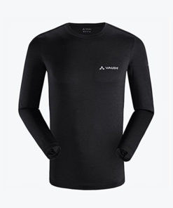 Vaude Black Duri Re Long Sleeves T-Shirt For Men