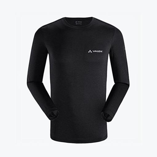 Vaude Black Duri Re Long Sleeves T-Shirt For Men