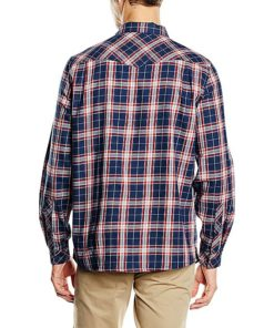 Vaude Blue/Red Algund Long Sleeve Shirt For Men