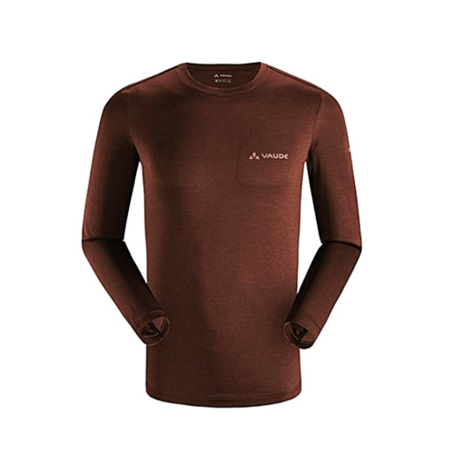 Vaude Cherry Wood Duri Re Long Sleeves T-Shirt For Men (1718209)