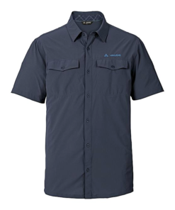 Vaude Deep Navy Blue Short Sleeves Skomer Shirt II For Men