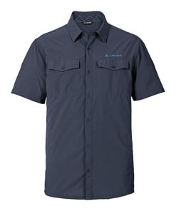 Vaude Deep Navy Blue Short Sleeves Skomer Shirt II For Men